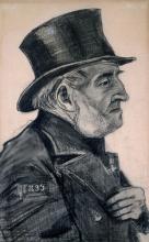van Gogh, Ritratto di un uomo con il cappello a cilindro | Portrait d'un homme en chapeau haut-de-forme | Portrait of a man in a top hat