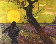 van Gogh, Seminatore al tramonto | Semeur au soleil couchant | Sower with setting sun