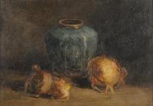van Gogh, Senza titolo, Natura morta, vaso di zenzero e cipolle | Sans titre, Nature morte: pot de gingembre et oignons | Untitled, Still life: ginger pot and onions