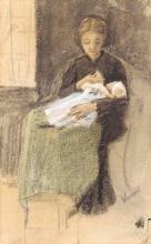 van Gogh, Sien che allatta il bebè | Sien allaitant le bébé | Sien nursing baby