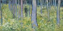 van Gogh, Sottobosco con due figure | Sous-Bois avec deux figures | Undergrowth with two figures