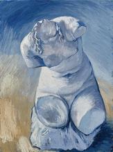van Gogh, Statuetta di gesso: torso di donna, visto di fronte | Statuette de plâtre: torse de femme, vue de face | Statuette of plaster: torso of woman, front view
