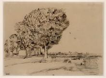 van Gogh, Strada campestre | Route de campagne | Country road | Landstraße