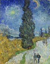 van Gogh, Strada di campagna in Provenza di notte   Landweg in de Provence bij nacht   Route de campagne en Provence de nuit   Country road in Provence by night