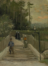 van Gogh, Stradina a Montmartre   Weg te Montmartre   Chemin à Montmartre   Path in Montmartre  