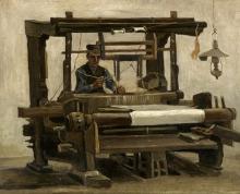 van Gogh, Telaio con tessitore | Weefgetouw met wever | Métier à tisser avec tisserand | Loom with weaver