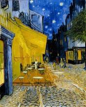 van Gogh, Terrazza di caffè di notte (Place du Forum) | Caféterras bij nacht (Place du Forum) | Terrasse de café de nuit (Place du Forum) | Terrace of a café at night (Place du Forum)