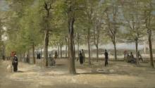 van Gogh, Terrazza nei giardini del Luxembourg | Terrasse dans le Jardin du Luxembourg | Terrace in the Luxembourg gardens