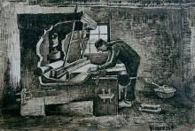 van Gogh, Tessitore davanti al telaio | Wever voor het weefgetouw | Tisserand devant le métier à tisser | Weaver in front of his loom