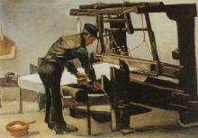 van Gogh, Tessitore in piedi davanti al telaio |  Een staande wever, gezien vanaf de rug | Tisserand debout devant le métier à tisser | Weaver, standing in front of the loom