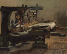 van Gogh, Tessitore rivolto a destra   Tisserand tourné à droite   Weaver facing right