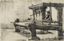 van Gogh, Tessitore rivolto a sinistra   Wever naar links gekeerd   Tisserand tourné à gauche  