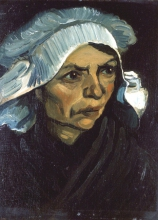 van Gogh, Testa di contadina | Kopf einer Bäuerin |Tête de paysanne | Head of a peasant woman