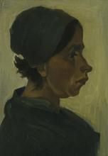 van Gogh, Testa di contadina | Boerenkop | Tête de paysanne | Peasant woman head