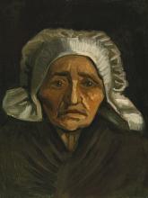 van Gogh, Testa di contadina con la cuffia bianca   Tête de paysanne à la coiffe blanche   Head of a pesant woman in white cap