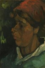 van Gogh, Testa di contadina olandese | Tête de paysanne hollandaise | Head of a Dutch peasant woman