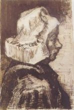 van Gogh, Testa di contadina rivolta a destra   Tête d'une paysanne tournée à droite   Head of a peasant woman facing right