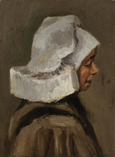 van Gogh, Testa di contadina: profilo destro   Tête d'une paysanne: profil de droite   Kopf einer Bäuerin Profil nach rechts   Head of a peasant woman: right profile