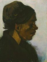 van Gogh, Testa di donna | Kop van een wrouw | Tête de femme | Head of a woman