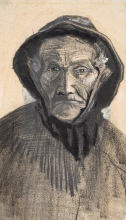 van Gogh, Testa di un pescatore con cappello di tela cerata   Kop van een visser met zuidwester   Chef d'un pêcheur au chapeau de toile cirée   Head of a fisherman with sou'wester