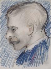 van Gogh, Testa di un uomo (probabilmente Theo van Gogh) | Kop van een man (vermoedelijk Theo van Gogh) | Tête d'un homme (probablement Theo van Gogh) | Head of a Man (possibly Theo van Gogh)