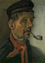 van Gogh, Testa di un uomo con la pipa | Kop van een man met pijp | Tête d'un homme à la pipe | Head of a man with pipe
