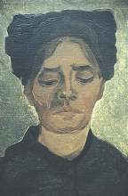 van Gogh, Testa di una contadina con copricapo scuro   Tête d'une paysanne avec un bonnet sombre   Head of a peasant woman with dark cap
