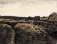 van Gogh, Torbiera a Drenthe | Tourbière à Drenthe | Peat bog in Drenthe