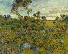 van Gogh, Tramonto a Montmajour | Coucher de soleil à Montmajour | Sunset at Montmajour
