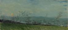 van Gogh, Tramonto a Montmartre | Zonsondergang te Montmartre | Coucher de soleil à Montmartre | Sunset at Montmartre