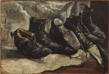 van Gogh, Tre paia di scarpe | Trois paires de chaussures | Three pairs of shoes