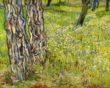 van Gogh, Tronchi d'albero nell'erba | Boomstammen in het gras | Tree trunks in the grass