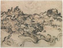 van Gogh, Ulivi con le Alpilles sullo sfondo | Oliviers avec les Alpilles au fond | Olive trees with the Alpilles in the background