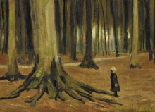 van Gogh, Una ragazza in un bosco | Une fille dans un bois | A girl in a wood