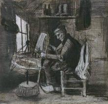 van Gogh, Uomo che avvolge il filo   Garenspoelende man   Homme enroulant du fil   Man winding yarn