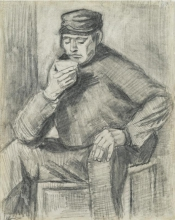 van Gogh, Uomo che beve una tazza di caffè   Homme buvant une tasse de café   Man drinking a cup of coffee