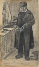 van Gogh, Uomo che lucida uno stivale | L'homme cirant une botte | Man polishing a boot