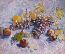 van Gogh, Uva, limoni, pere e mele | Raisins, lemons, poires et pommes | Grapes, lemons, pears, and apples