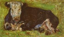 van Gogh, Vacca sdraiata | Vache couchée | Cow lying down | Liegende Kuh