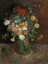 van Gogh, Vaso con zinnie e gerani   Vase avec zinnias et géraniums   Vase with zinnias and geraniums