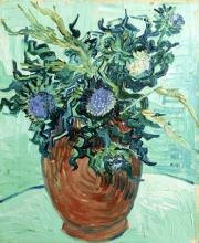 van Gogh, Vaso da fiori con cardi | Vase à fleurs avec chardons | Flower vase with thistles