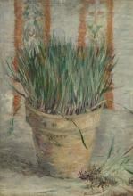 van Gogh, Vaso da fiori con erba cipollina cinese | Bloempot met Chinese bieslook | Flowerpot with garlic chives