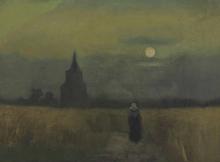 van Gogh, Vecchia torre al tramonto | Oude toren bij zonsondergang | Vieille tour au coucher du soleil | Old tower at sunset