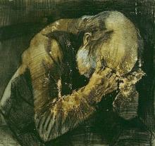 van Gogh, Vecchio che soffre | Treurende oude man | Vieillard qui souffre | Sorrowing old man