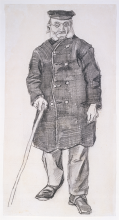van Gogh, Vecchio con bastone da passeggio   Weesman met wandelstok   Vieillard avec bâton de marche   Orphan man with walking stick