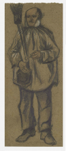 van Gogh, Vecchio con camiciotto, scopa e pipa | Weesman met bloes, bezem en pijp | Vieillard avec chemisier, balai et pipe | Orphan man, wearing a blouse, with broom and pipe