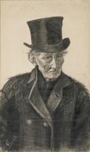 van Gogh, Vecchio con cappello a cilindro | Oude man met hoge hoed | Vieillard coiffé d'un chapeau haut de forme | Old man with a top hat