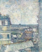 van Gogh, Veduta dalla camera dell'artista, rue Lepic | Vue de la chambre de l'artiste, rue Lepic | View from the artist's room, rue Lepic