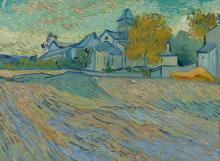 van Gogh, Veduta del manicomio e della cappella di Saint Rémy | Vue de l'asile et de la Chapelle de Saint-Rémy | Vue de l'asile et de la Chapelle de Saint-Rémy | View of the asylum and the chapel of Saint Rémy