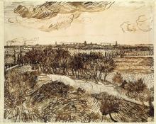 van Gogh, Veduta di Arles da Montmajour | Utsikt mot Arles fra Montmajour | Vue d'Arles de Montmajour | View of Arles from Montmajour
